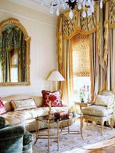 Tasteful Extravagance  Tasteful Extravagance  Lush drapes, rich fabrics, and gilded furniture are all marks of a Country French room. The mark of a beautiful Country French room is elegance: opulent, but not glitzy, detailed, but not overdone. To maintain the balance, keep accessories simple and colors subdued.