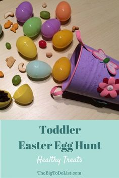 Several ideas for healthy treats for a toddler Easter egg hunt, and some tips for a fun and successful egg hunt with toddlers. Easy Easter Desserts, Easter Treats, Healthy Toddler Snacks, Healthy Treats, Finding Joy, Egg Hunt, Yummy Snacks, Easter Baskets, Easter Eggs
