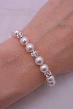 bracelet perle et strass