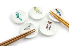 make my day | 九谷焼 | KUTANI SEAL | 小鳥の箸置きセットA