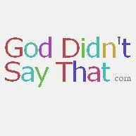 sabachthani « God Didn't Say That