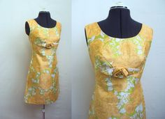 1960s Orange & green rose print fitted shift summer by Veramode, £40.00