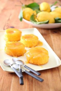These uplifting, citrusy beauties are a quick-time, short-cut version of the traditional English canary pudding
