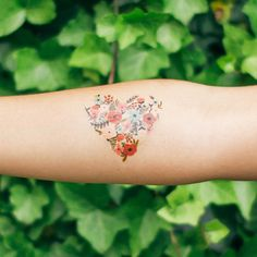 Swoon. Rifle Paper Co. + Tattly collaboration! #floral #temporary #tattoo