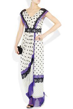 #AlbertaFeretti polka-dot chiffon & lace - SO pretty for a night out - #JetsetterCurator