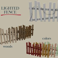 Leo Sims - Lighted fences for The Sims 4 Sims Four, Sims 4 Mm Cc, Sims 4 Mods, Maxis, Sims 4 Windows, Muebles Sims 4 Cc, Sims 4 Kitchen, Sims Baby, Sims 4 Gameplay