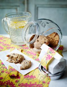 Chocolate, peanut butter and fudge cookies. A healthy and gluten-free treat.