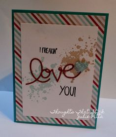 I took the silver glimmer paper and used a sponge dauber to turn the paper into a pool party colored heart by using the Bermuda Bay ink pad to shade the heart the blue color.
