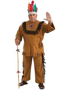 Check out Native American Warrior Costume - Plus Size Indian Costumes from Costume Super Center