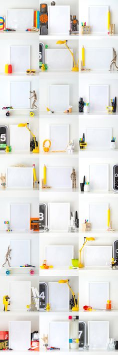 A set of photographs for use as print mock-ups.
