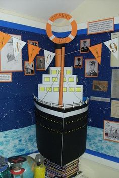 titanic display: there's a boy in my class who would love this!