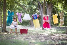 Disney princess photo shoot for toddlers.