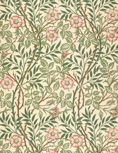 William Morris - 'Sweet Briar' design for wallpaper, printed by John Henry Dearle (1860-1932) 1917