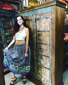 Mogul Interior Womans Bohemian Skirt Stunner Elephant Print Flirty Flare Long Skirts S Hippie Skirts, Bohemian Skirt, Bohemian Summer, Gypsy Skirt, Boho Skirts, Boho Gypsy, Hippie Style, Bohemian Style, Festival Skirts