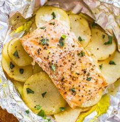 12 Flavorful Foil Pack Recipes - Salmon and Potato Foil Packets