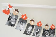 Woodland Birthday Decor - Fox Party Decorations - Fox First Birthday Party - 12 Month Photo Banner - Woodland Birthday - Fox Birthday Boy First Birthday, Boy Birthday Parties, Birthday Party Decorations, Decoration Party, Ideas Bautismo, Fox Party, Photo Banner, Boy Decor, Woodland Party