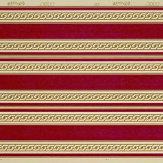 Red Stripes with Gilt Chain Edges # Rolls: 1 of border total) Condition: Excellent Antique Wallpaper, Original Wallpaper, Borders For Paper, Red Stripes, Band, Chain, Antiques, Rolls, Antiquities