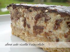 cheese cake alla ricotta e cioccolato