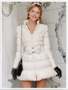Morpheus Boutique  - White Zipper Bow Down Lady Long Sleeve Coat, CA$184.60 (http://www.morpheusboutique.com/white-zipper-bow-down-lady-long-sleeve-coat/)