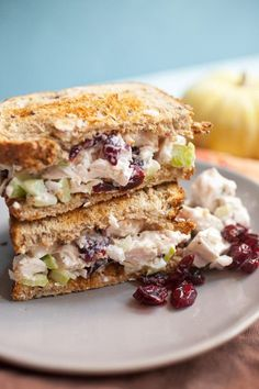 Leftover Turkey Salad Sandwiches - Recipe Girl - - These Leftover Turkey Salad Sandwiches with all kinds of goodies added are the best way to utilize Thanksgiving turkey leftovers! Thanksgiving Leftover Recipes, Leftover Turkey Recipes, Thanksgiving Leftovers, Leftovers Recipes, Holiday Recipes, Turkey Leftovers, Thanksgiving Salad, Turkey Salad Sandwich, Salat Sandwich