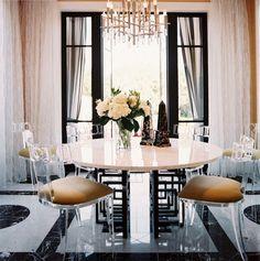 #lucitechairs #diningroom