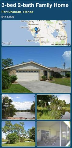3-bed 2-bath Family Home in Port Charlotte, Florida ►$114,900 #PropertyForSale #RealEstate #Florida http://florida-magic.com/properties/16697-family-home-for-sale-in-port-charlotte-florida-with-3-bedroom-2-bathroom
