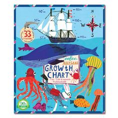 Find amazing Keepsake Growth Chart, Big Blue Whale by eeBoo tiger gifts for your tiger lover. Great for any occasion! Boys Growth Chart, Growth Charts, Big Blue Whale, Small Flower Pots, Paper Chains, Bedroom Themes, Wooden Handles, Nautical Theme, Cute Pink
