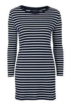 PETITE Stripe Tunic Dress
