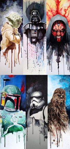 - This is awesome art just amazing! Especially when Star Wars is the subject (; Yoda Darth Vader Darth Maul Bobba Fett Stormtrooper Chewbacca Wookie Fantastic Star Wars watercolors by David Kraig - Star Wars Paint - Ideas of Star Wars Paint Star Wars Art, Star Wars Universe, Awesome, Star Wars Painting, Painting, Cool Art, Star War 3, Stars, War Paint