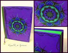 Libro pintado a mano Ecuadernado artesanal