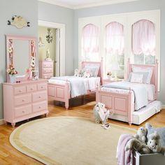 blush pink girls bedroom