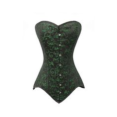 Charmian Women's Sexy Strapless Floral Embroidery Gothic Corset with... ($31) ❤ liked on Polyvore featuring lace costume, ladies costumes, lady halloween costumes, ladies halloween costumes and womens halloween costumes