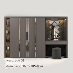Wardrobe Furniture, Wardrobe Design Bedroom, Room Design Bedroom, Bedroom Furniture Design, Bedroom Wardrobe, Home Room Design, Wardrobe Door Designs, Closet Designs, Indian Bedroom Decor