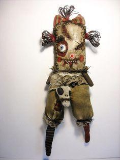 OMG...Another amazing creation by Junker Jane!!!  Handmade Art Doll Monster Durrie by JunkerJane on Etsy