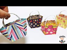 Discover more about Origami Projects Gato Origami, Origami Bag, Origami Dress, Paper Beads Tutorial, Origami Tutorial, Envelopes, Diy Paper, Paper Crafts, Small Paper Bags