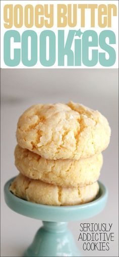 The best St Louis tradition in a cookie! Gooey Butter Cake Cookies!