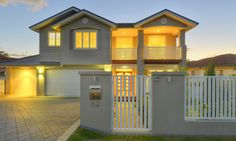 Hamptons Homes - Specialist Brisbane Builder Hamptons Style Homes, Hamptons House, The Hamptons, Fence Ideas, Fencing, Brisbane, Modern Farmhouse, My House, Beach House