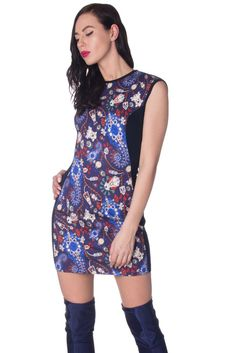 d80d5c5bb8b MARY KATRANTZOU Wool Mini Bodycon Dress Size M Stretch Patterned Made in  Italy  fashion