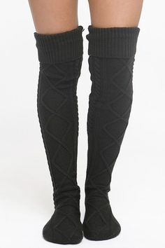 Cable Knit Boot Socks | Lime Street Fashion