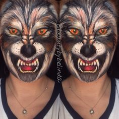 Who's afraid of the big, bad wolf? Informations About Who's afraid of the big, bad wolf? Couple Halloween Costumes, Halloween Make Up, Halloween Face Makeup, Teen Costumes, Woman Costumes, Pirate Costumes, Group Costumes, Werewolf Face Paint, Homemade Costumes For Kids