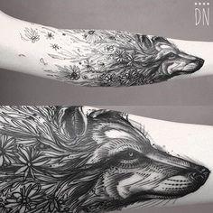Great tattoo by @dinonemec www.illustratedmonthly.com digital books | vectors | fonts | art supplies