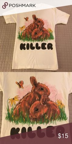 "Kill Brand ""Killer"" T-Shirt Bunnies Kill Brand ""Killer"" T-Shirt Bunnies in Size Small. Kill Brand Shirts Tees - Short Sleeve"