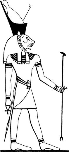 Maahes -Son of Bast and Ra (or sometimes Ptah instead) Egyptian god of war, protector of the innocent, devourer of the guilty, the Scarlet Lord, Lord of Slaughter, Lord of Massacre.