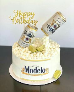 21st Birthday Cake For Guys, Beer Birthday Party, 25th Birthday Cakes, Cakes For Men, Cakes And More, Corona Cake, Doctor Cake, Alcohol Cake, Dad Cake