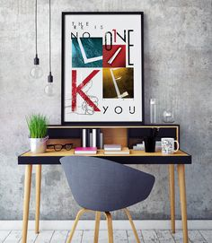"Home Decor – ""There is no one like you"" poster design"