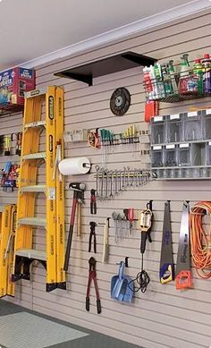 Garage is a place that easily be filled with various things since the space is big enough to be used as storage. However, you might want to try using some of these garage storage solutions so you can organize the… Continue Reading → Plan Garage, Garage Shed, Garage Walls, Garage Cabinets, Garage House, Garage Workshop, Garage Workbench, Garage Doors, Garage Bar