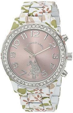 US Polo Assn Womens Quartz Metal and Alloy Automatic Watch ColorTwo Tone Model USC40105 *** Want additional info? Click on the image(It is Amazon affiliate link). #amazing