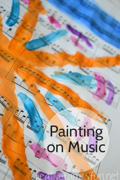 Try a fun creative exercise by painting on music while listening to music.