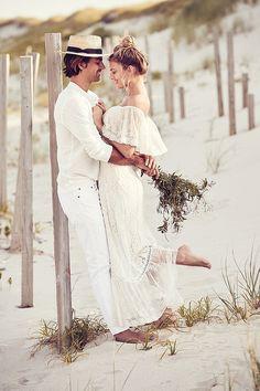 Trendy Wedding Dresses : Gorgeous, effortless honeymoon style from BHLDN Weddings. Beach Wedding Guests, Beach Wedding Attire, Wedding Poses, Boho Wedding, Beach Weddings, Italy Wedding, Casual Wedding, Formal Wedding, Romantic Weddings
