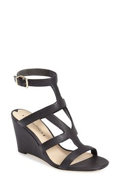 Via Spiga 'Winda' Leather Ankle Strap Wedge Sandal (Women) available at #Nordstrom